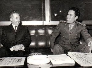 Photo of Qaddafi and Ceausescu in Tripoli 1974