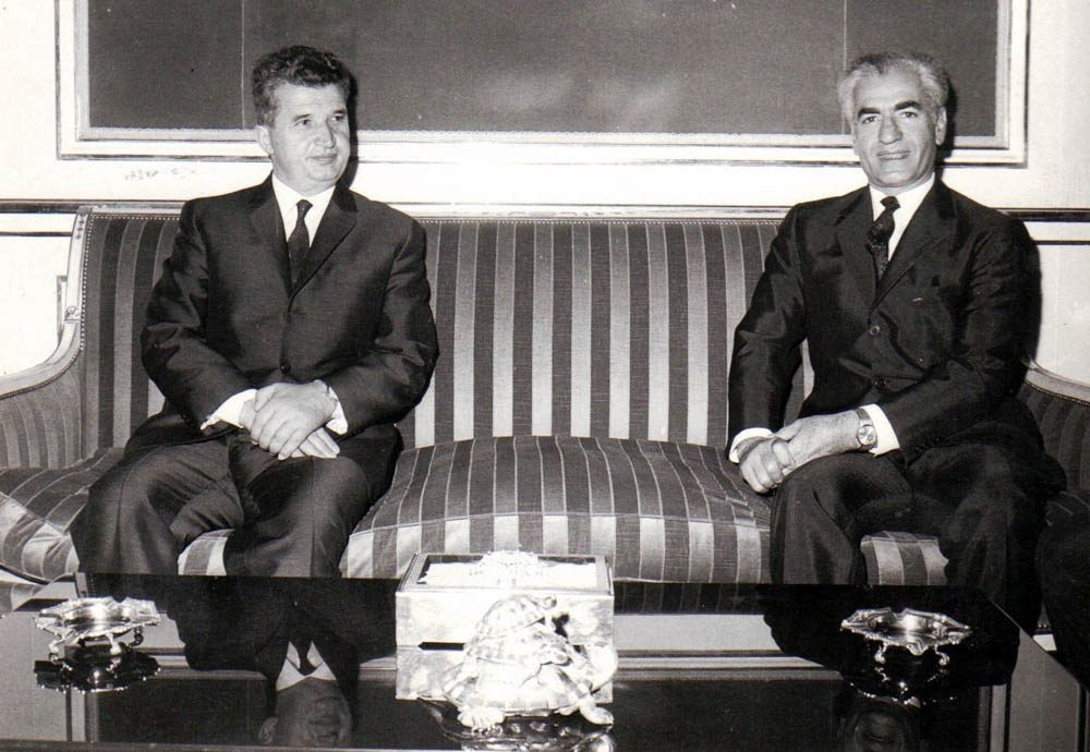 Ceausescu with Shah Mohammad Reza Pahlavi